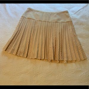 Pleated laser cut skirt